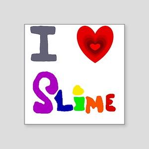 I love Slime Art Sticker