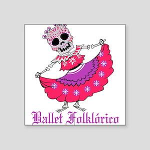 Ballet Folklorico Ladies Sugar Skull Dance Sticker