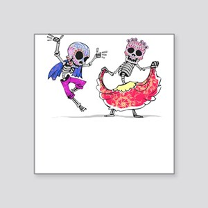 Skeleton Couple Ballet Folklorico Dancer Sticker