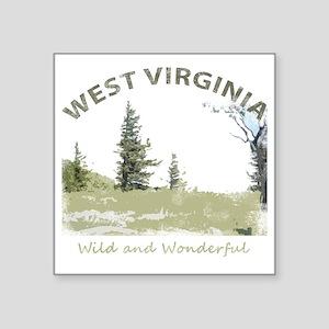 "West Virginia Square Sticker 3"" x 3"""