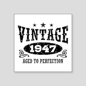 "Vintage 1947 Square Sticker 3"" x 3"""
