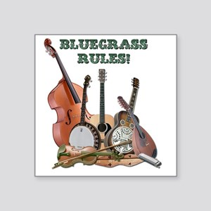 "DAmbrosioArts_BluegrassRule Square Sticker 3"" x 3"""