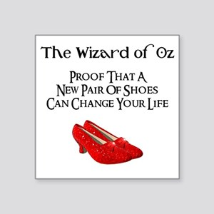 """Dorothys Ruby Red Slippers Square Sticker 3"""" x 3"""""""