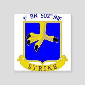 1st BN 502nd INF Rectangle Sticker