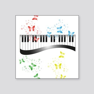 Butterfly piano music Sticker