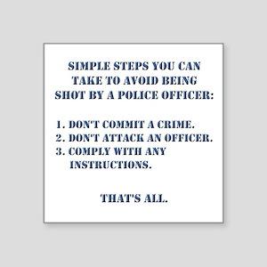 "Simple Steps Square Sticker 3"" x 3"""