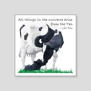"Tao Cow Square Sticker 3"" x 3"""