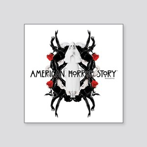 "American Horror Story White Square Sticker 3"" x 3"""