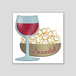 Scandal Red Wine Popcorn Sticker