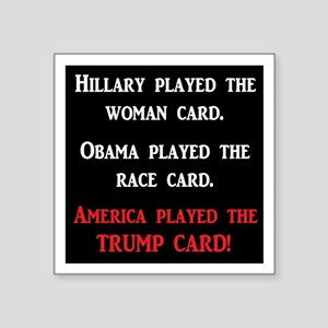 "trump Square Sticker 3"" x 3"""