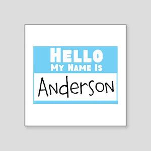 "Personalized Name Tag Square Sticker 3"" x 3"""