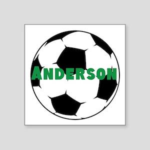 "Personalized Soccer Square Sticker 3"" x 3"""