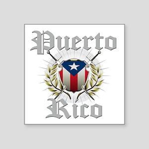 """Puerto Rico Square Sticker 3"""" x 3"""""""
