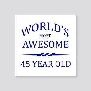 """World's Most Awesome 50 Year Old Square Sticker 3"""""""