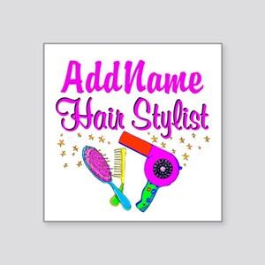 "1ST PLACE STYLIST Square Sticker 3"" x 3"""