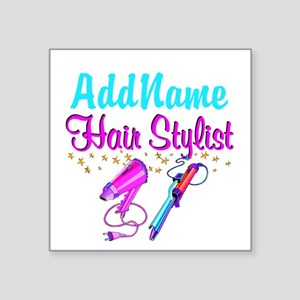 "STUNNING STYLIST Square Sticker 3"" x 3"""