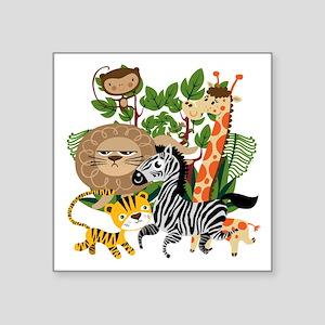 """Animal Safari Square Sticker 3"""" x 3"""""""