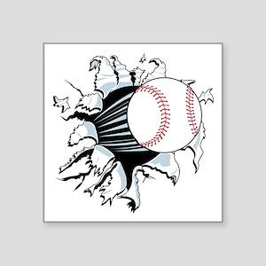 "Breakthrough Baseball Square Sticker 3"" x 3"""