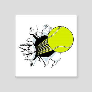 "Breakthrough Tennis Ball Square Sticker 3"" x 3"""
