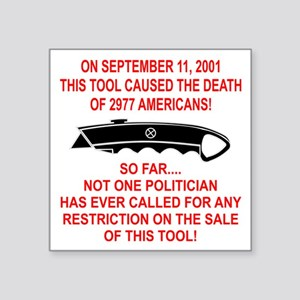 "2977 Americans Dead Square Sticker 3"" x 3"""
