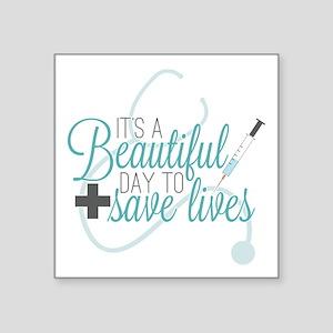"""Grey's Anatomy: A Beautiful Square Sticker 3"""" x 3"""""""