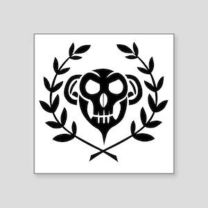 "10x10_apparel_skull_black Square Sticker 3"" x 3"""