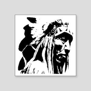 """Native American Chief Art Square Sticker 3"""" x 3"""""""