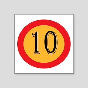 Number 10 Sticker