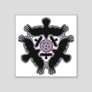 "Eleven Crow Pentagram - Pur Square Sticker 3"" x 3"""