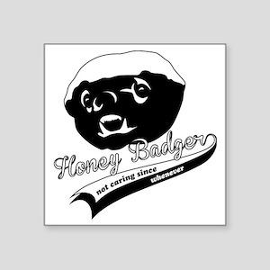 "Honey Badger Design Square Sticker 3"" x 3"""