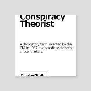 Conspiracy Theorist T-Shirt Sticker