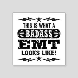 """Badass EMT Square Sticker 3"""" x 3"""""""
