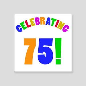 "Rainbow 75 Square Sticker 3"" x 3"""