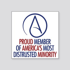 "Distrusted Minority Square Sticker 3"" x 3"""