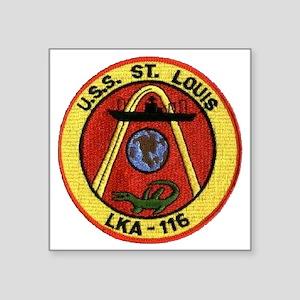 """uss st louis patch transpar Square Sticker 3"""" x 3"""""""