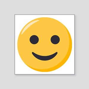 """Smiley Face Emoji Square Sticker 3"""" x 3"""""""