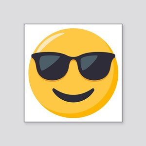 "Sunglasses Emoji Square Sticker 3"" x 3"""