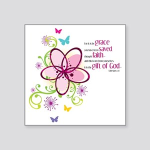 """by-grace Square Sticker 3"""" x 3"""""""