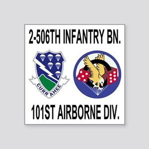 """2-Army-506th-Infantry-2-506 Square Sticker 3"""" x 3"""""""