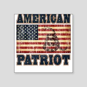 American Patriot Square Sticker