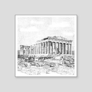 """Parthenon Acropolis Athens Square Sticker 3"""" x 3"""""""