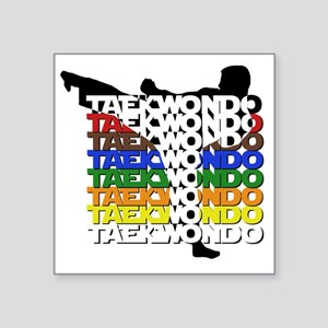 "ColorsOfTKD Square Sticker 3"" x 3"""