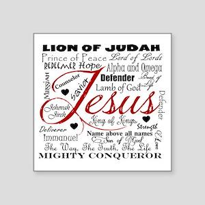 "The Name of Jesus Square Sticker 3"" x 3"""