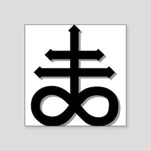 "Sulfur - Alchemy Square Sticker 3"" x 3"""