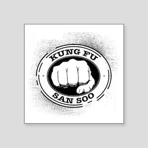 "kung fu san soo 4 Square Sticker 3"" x 3"""