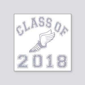"CO2018 Track Grey Distresse Square Sticker 3"" x 3"""