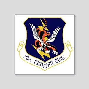 """23rd FW Flying Tigers Square Sticker 3"""" x 3"""""""