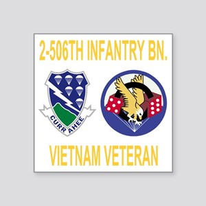 "Army-506th-Infantry-2-506th Square Sticker 3"" x 3"""