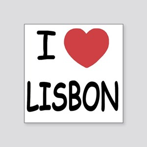 "LISBON Square Sticker 3"" x 3"""