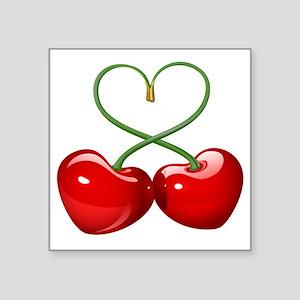 """Cherry Love Square Sticker 3"""" x 3"""""""